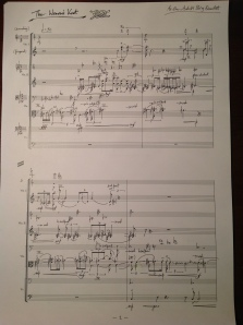 Lim: The Weaver's Knot (2013), string quartet - ink score before typesetting