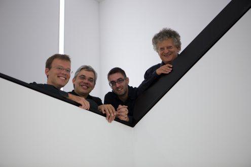 Arditti String Quartet. l-r: Ralf Ehlers, Lucas Fels, Ashot Sarkissjan, Irvine Arditti