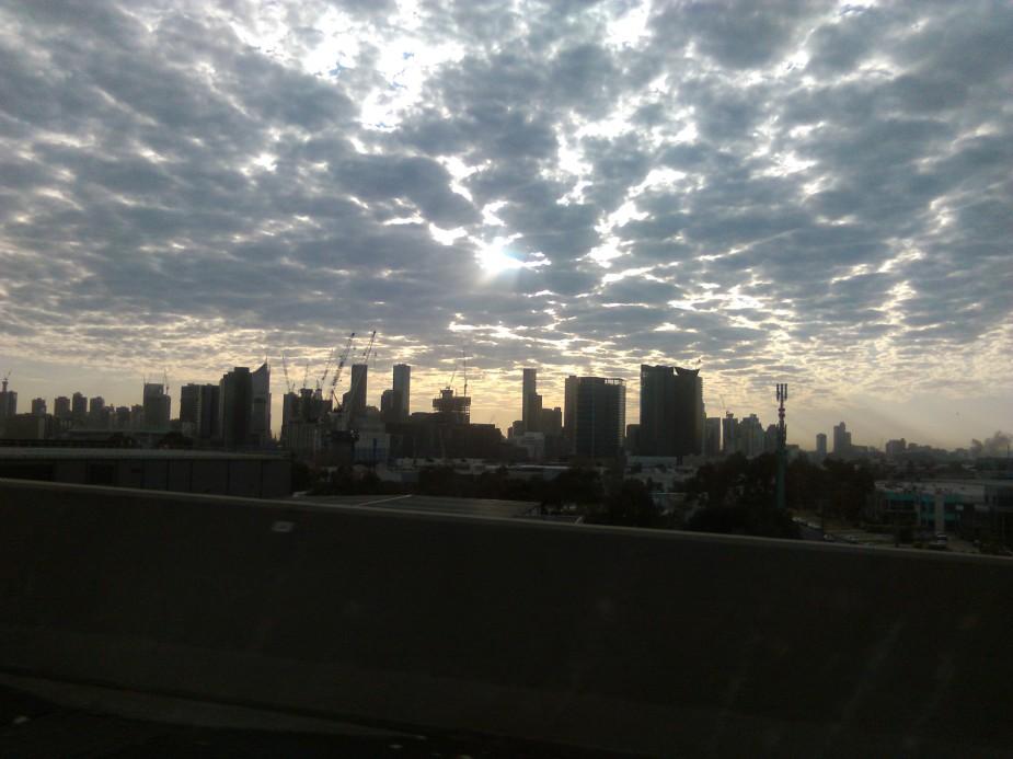 morning sky, September 2015, Melbourne