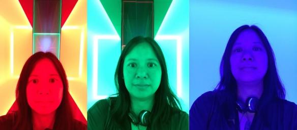 Lim, Turrell selfie at Mona 2