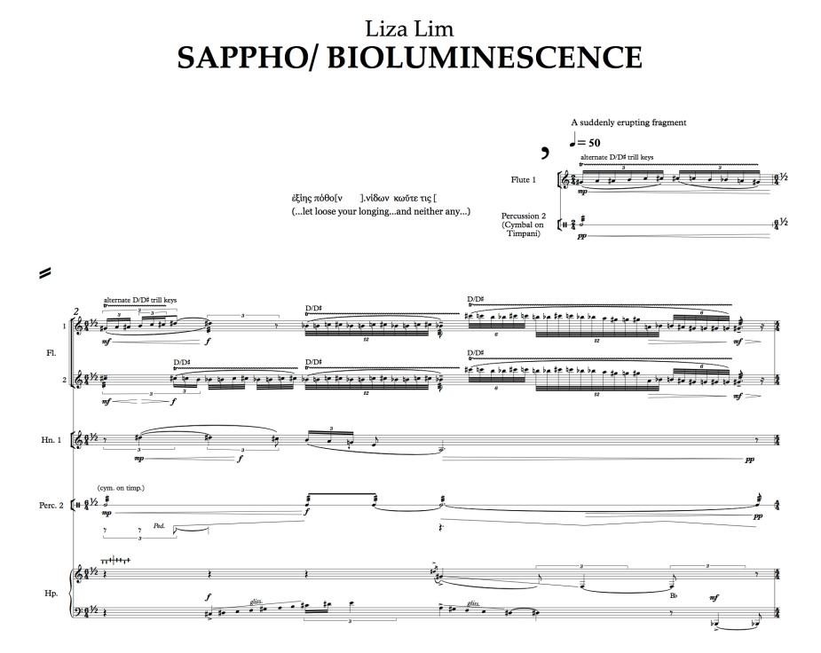 Sappho: Bioluminescence excerpt